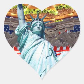 'MURICA! American pride, liberty lovin' folks wear Heart Sticker