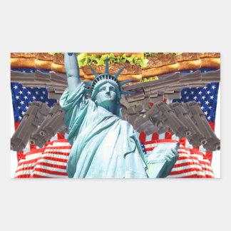 'MURICA! American pride, liberty lovin' folks wear Rectangular Stickers