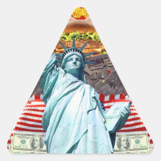 'MURICA! American pride, liberty lovin' folks wear Triangle Sticker