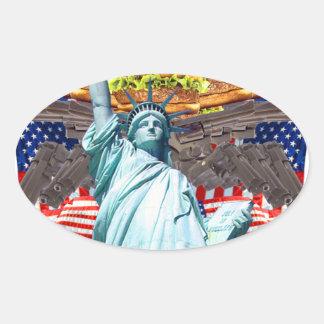 'MURICA! American pride, liberty lovin' folks wear Oval Sticker