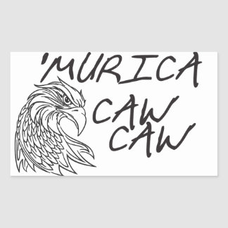 Murica CAW CAW Rectangular Sticker