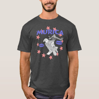 Murica Cowboy and Eagle T-Shirt
