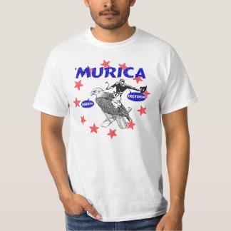Murica Eagle y vaquero Playera
