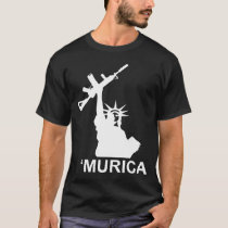 Murica Lady Liberty Gun Tee gun rights molon labe