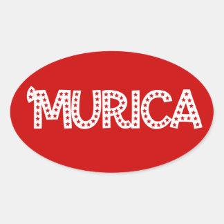 Murica Oval Sticker