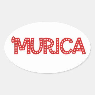 'Murica Oval Sticker