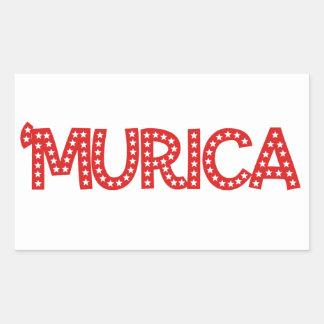 'Murica Rectangular Sticker