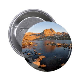 Muriel Lake Sunset near Piute Pass - Sierra Nevada Pinback Button
