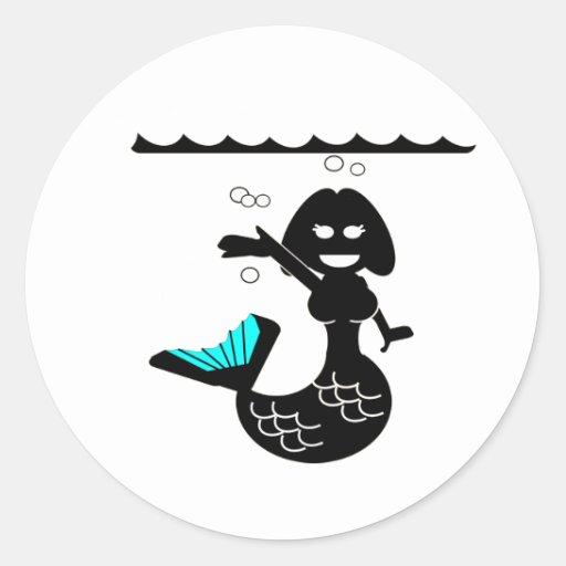 Muriel MacBubbles - Hyperactive Mermaid Stickers