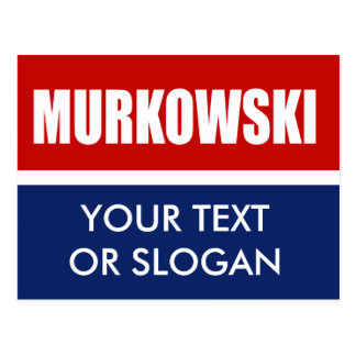 MURKOWSKI 2012 POSTCARD