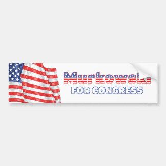 Murkowski for Congress Patriotic American Flag Bumper Sticker