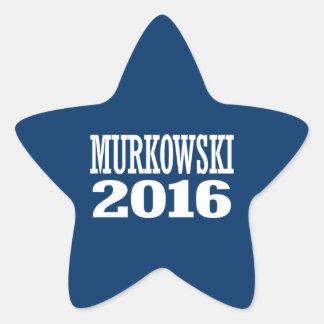 Murkowski - Lisa Murkowski 2016 Pegatina En Forma De Estrella