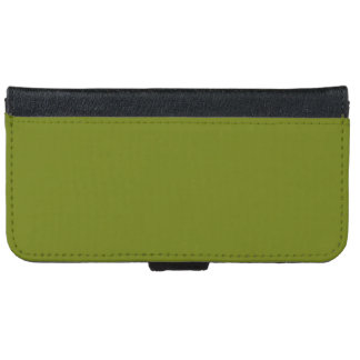 Murky Green colored iPhone 6 Wallet Case