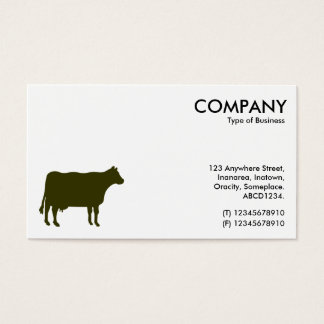 Murky Green Cow Symbol - White Business Card