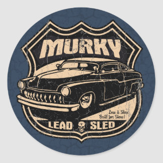 Murky Lead Sled Classic Round Sticker