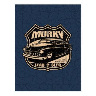 Murky Lead Sled Postcard