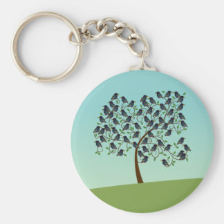 Murmuration of Starlings Basic Round Button Keychain