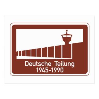 Muro de Berlín 1945-1990, muro de Berlín, muestra Postal