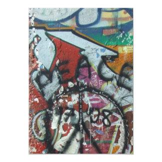 muro de Berlín de la tarjeta de la invitación Invitación 12,7 X 17,8 Cm