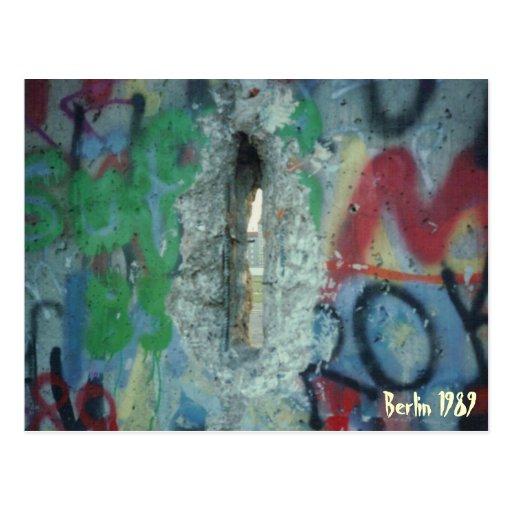 Muro de Berlín - dos días después de - 1989 Postal