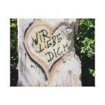 Muro de Berlín - le amamos Impresiones En Lienzo Estiradas