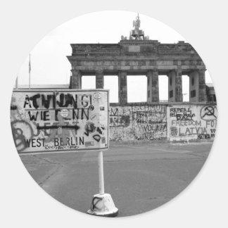 Muro de Berlín Pegatina Redonda