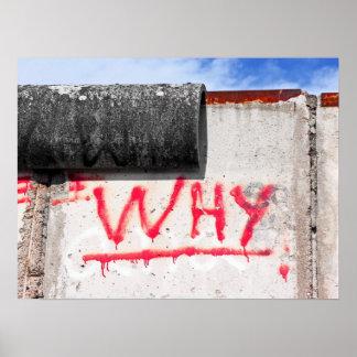 ¿Muro de Berlín, pintada, por qué? Póster