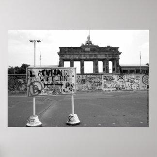 Muro de Berlín República Federal de Alemania 1989 Póster