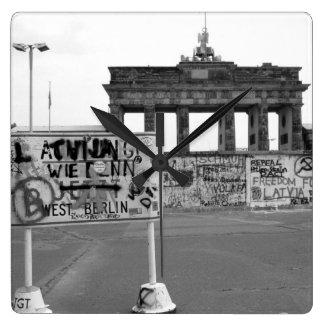 Muro de Berlín República Federal de Alemania 1989 Reloj Cuadrado