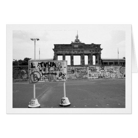 Muro de Berlín Tarjeta De Felicitación