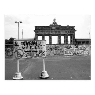 Muro de Berlín Tarjeta Postal