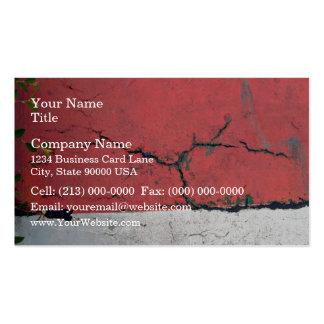 Muro de cemento pintado en barras de alternancia tarjeta de visita