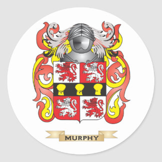 Murphy Coat of Arms (Family Crest) Classic Round Sticker