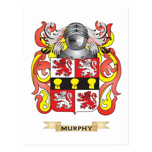 Murphy Coat of Arms (Family Crest) Postcard