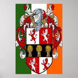 Murphy Coat of Arms Irish Flag Print