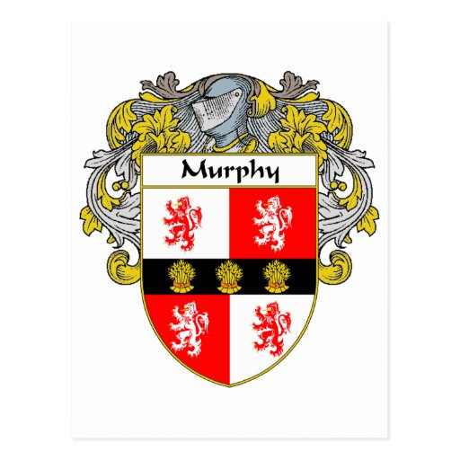 Murphy Coat of Arms (Mantled) Postcard