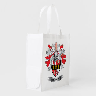 Murphy Coat of Arms Reusable Grocery Bags