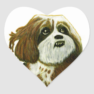 MURPHY doggie jGibney The MUSEUM Zazzle Gifts Heart Sticker