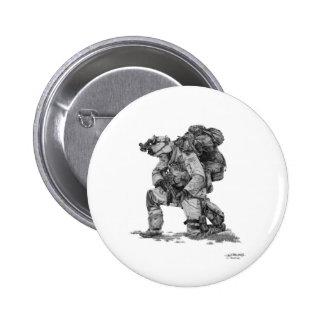 Murphy Elliott-Praying Soldier Pinback Button