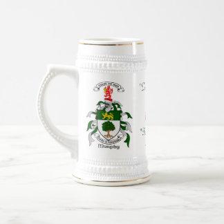 Murphy Family Crest 18 Oz Beer Stein