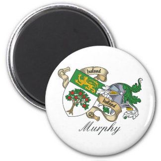 Murphy Family Crest 2 Inch Round Magnet