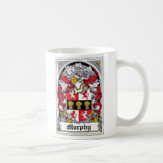 Murphy Family Crest Classic White Coffee Mug