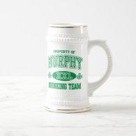 Murphy Irish Drinking Team 18 Oz Beer Stein