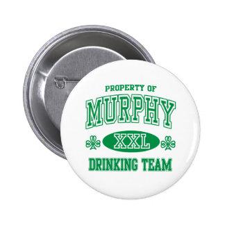 Murphy Irish Drinking Team 2 Inch Round Button