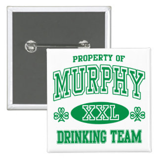 Murphy Irish Drinking Team 2 Inch Square Button