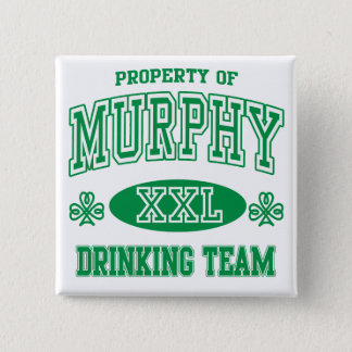 Murphy Irish Drinking Team Pinback Button