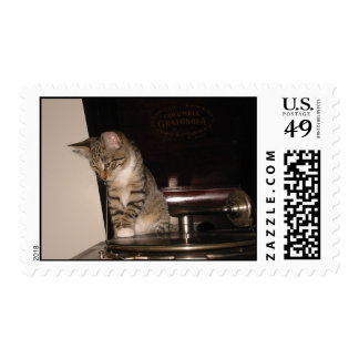 Murphy on the victrola postage