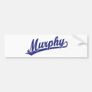 Murphy script logo in blue car bumper sticker