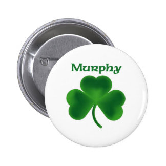 Murphy Shamrock Pinback Button