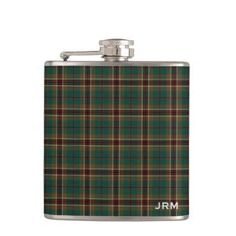 Murphy Tartan Monogram Irish Plaid Flask